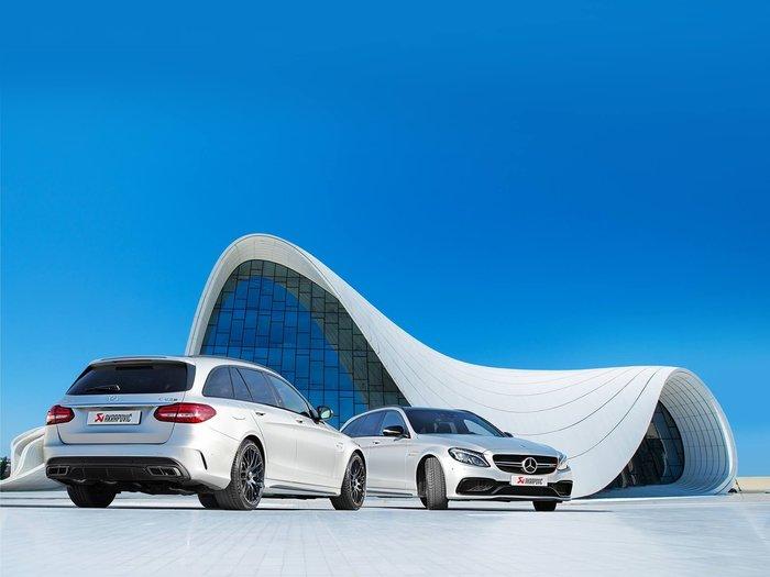 【樂駒】Akrapovic 蠍子 鈦合金 排氣 系統 Benz W205 S205 C63 AMG 排氣管 改裝 尾段