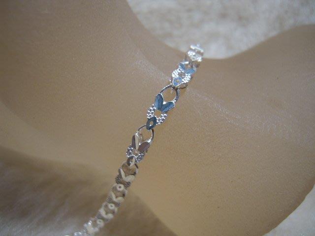 ※水晶玫瑰※ 990純銀鏤花手鏈(RD109)
