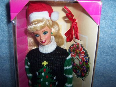 Holiday Season Barbie 1996 圣誕假日 開口笑 甜美芭比娃娃