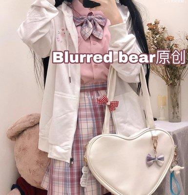 じ月亮居家館╮BLURRED BEAR創意日系軟妹秋裝庫洛米薄外套服寬松百搭X3C52