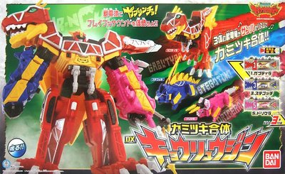 日本正版 萬代 獸電戰隊強龍者 咬擊合體 強龍神 附3個獸電池 玩具 日本代購