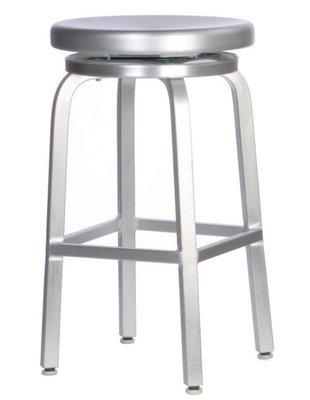 【台大復刻家具】海軍椅 Navy Swivel Stool 可旋轉 吧台凳【非Crate&Barrel Emeco 】
