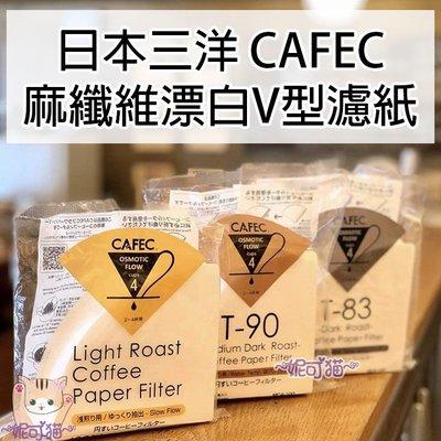 日本三洋濾紙【送豆匙】1-4杯 錐形漂白 淺焙Light roast│中焙T-90│深焙T-83 咖啡過濾紙 咖啡濾紙