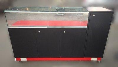台中宏品二手家具 中古傢俱賣場 D91603*黑色6尺展示櫃 展示架 櫃檯 *便宜家二手家具拍賣 冷氣空調 冰箱電視