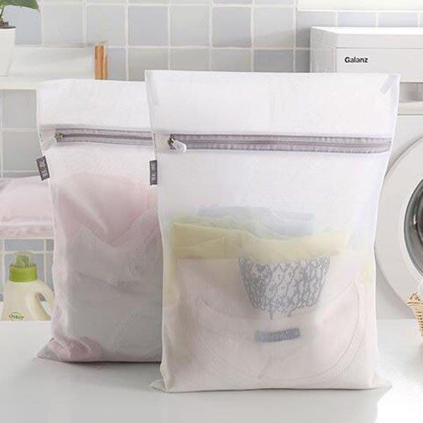 灰白簡約防變形網狀密孔型洗衣袋(小號)【JI2314】《Jami Honey》