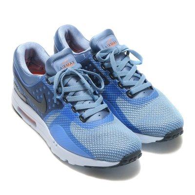 =CodE= NIKE W AIR MAX ZERO ESSENTIAL 無縫線慢跑鞋(藍黑)876070-400 女男