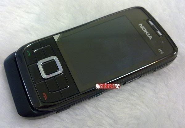 『皇家昌庫』Nokia E66 原廠 芬蘭機 限量黑魂版 免費導航+簽證破解『導航/3G視訊/無線上網』