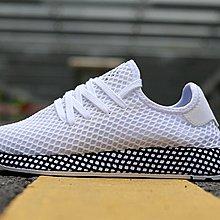 D-BOX  Adidas Deerupt Runner 網格 跑步鞋 黑白 慢跑鞋