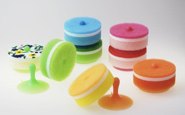 【JP 09】海綿刷 海綿刷 附吸盤座 MARNA 日本製 海綿 菜瓜布 浴室 流理台 廚房