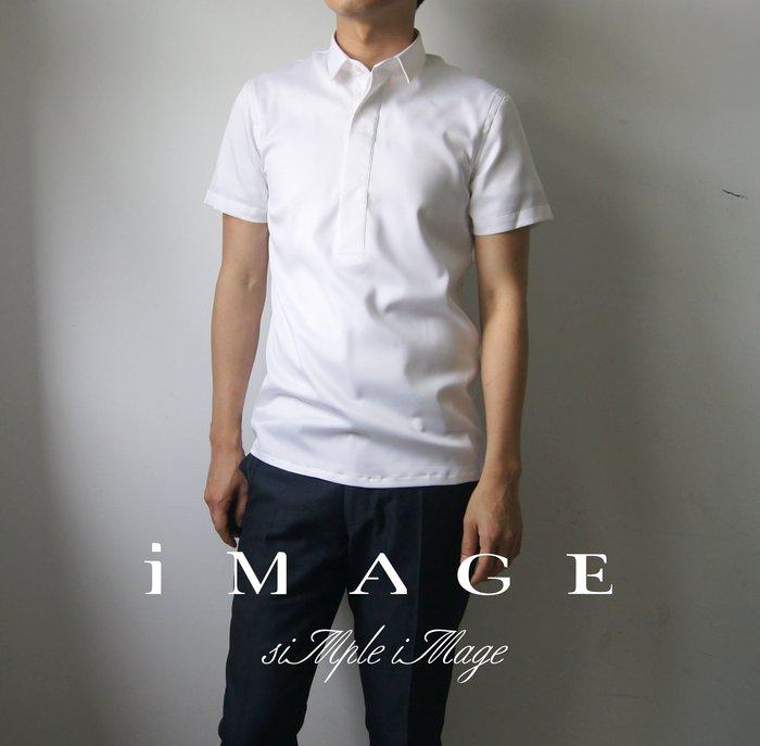 SIMPLE IMAGE(手工製作)參考valentino夏季風格製作素白色短袖襯衫a695