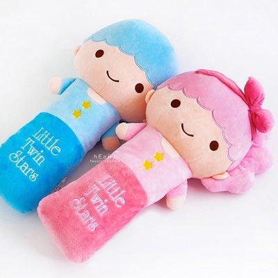 【媽媽倉庫】 三麗鷗雙子星安全帶保護套玩偶 安撫玩具 車用雜貨
