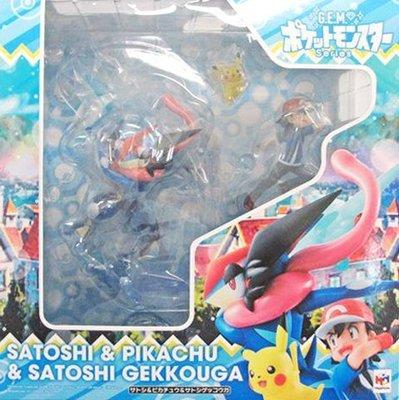 日本正版 MH G.E.M. GEM 精靈寶可夢 神奇寶貝 小智 皮卡丘 小智甲賀忍蛙 模型 公仔 日本代購