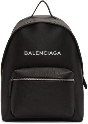 ~The Black Dan Moccani~ [特價] BALENCIAGA Everyday 字母 黑色 皮質後背包