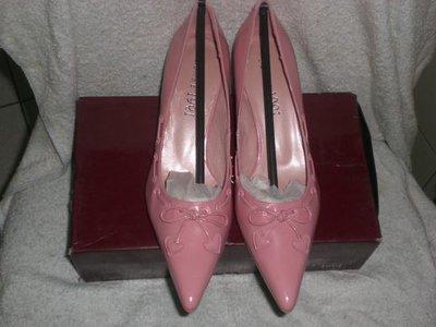 ☆甜甜妞妞小舖☆ 品牌  sense 1991  愛心蝴蝶結粉色尖頭高跟鞋----25號