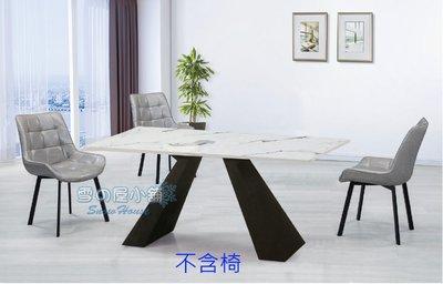 ╭☆雪之屋居家生活館☆╯A472大理石餐桌(4公分石面)(黑砂鐵腳)R1110-01