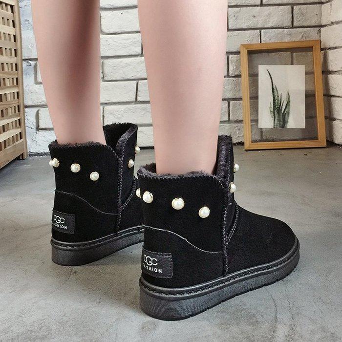 【CP值超高】雪地靴冬天雪地靴女加絨加厚保暖休閒鞋短筒靴子女性棉靴防水女鞋子休閒