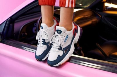 S.G ADIDAS ORIGINALS FALCON W 白藍紅 復古 老爹鞋 運動休閒 慢跑鞋 男女鞋 CG6246