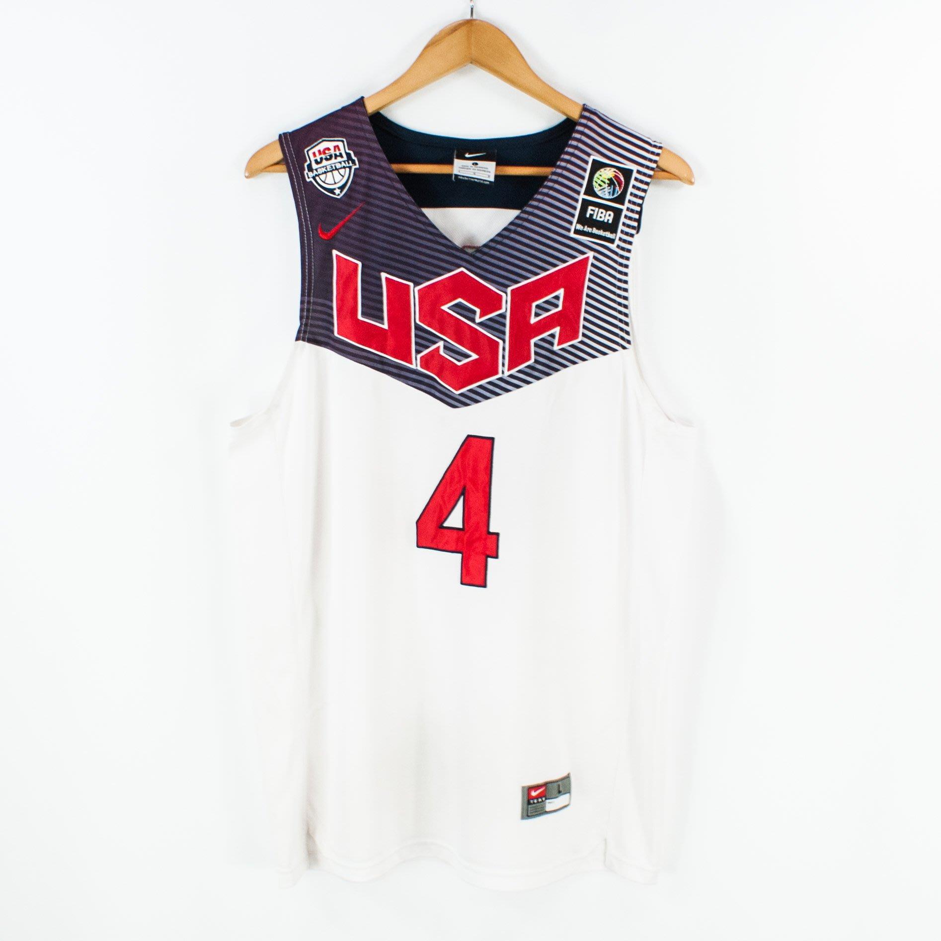 【品牌競區】絕版 NIKE FIBA 2014 美國國家隊 / CURRY / 籃球背心 / L號 ~ 5G37