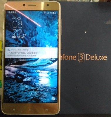 【 限定桃園面交勿下單】ASUS Zenfone3Deluxe ZS550KL.4ram64G.大螢幕手機5.5吋雙卡備用手機備用機