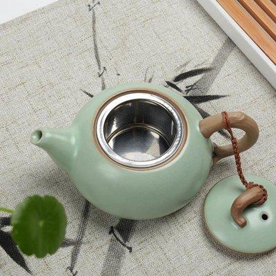 哆啦本鋪 汝窯茶壺 過濾網內膽 可養開片汝瓷 陶瓷小號泡茶器功夫茶具D655
