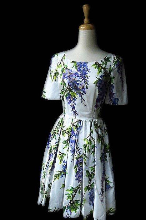 *Beauty*DOLCE &GABBANA紫藤花短袖洋裝I36號 16800   元WE18