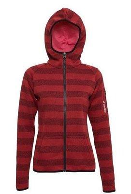 北台灣大聯盟 義大利第一品牌-LOTTO樂得 女款保暖升溫刷毛連帽外套 保暖2級 [1241] 紅 超低直購價590元