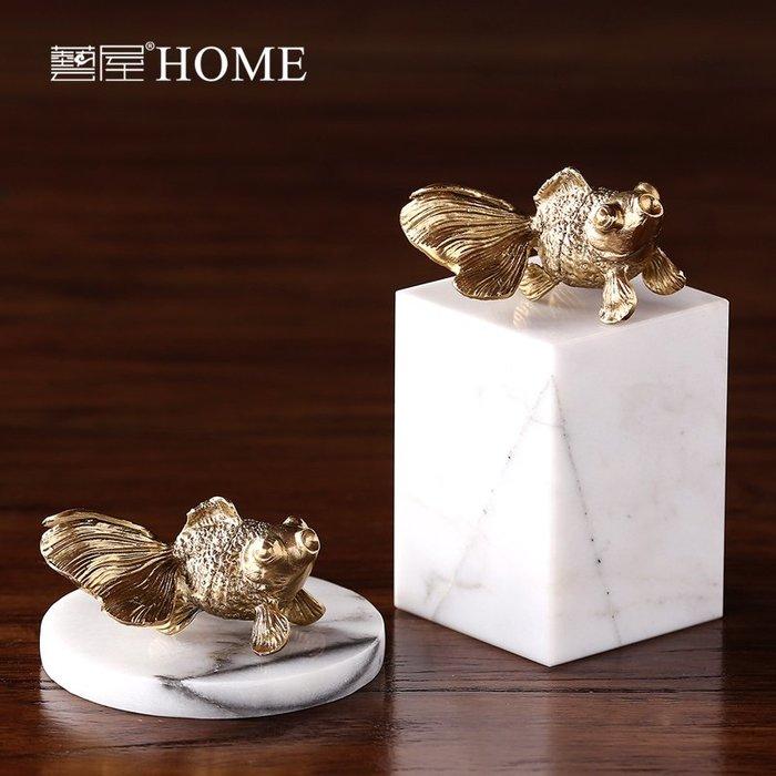 〖洋碼頭〗歐式金屬金魚擺件 歐式家居客廳裝飾品擺設 創意樣板間軟裝配飾品 ywj447