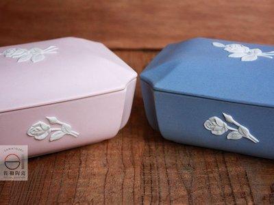 +佐和陶瓷餐具批發+【XL071213-2.3粉紫-立體玫瑰長蓋缽-日本製】日本製 陶瓷盒 附蓋盒 食器 收納盒