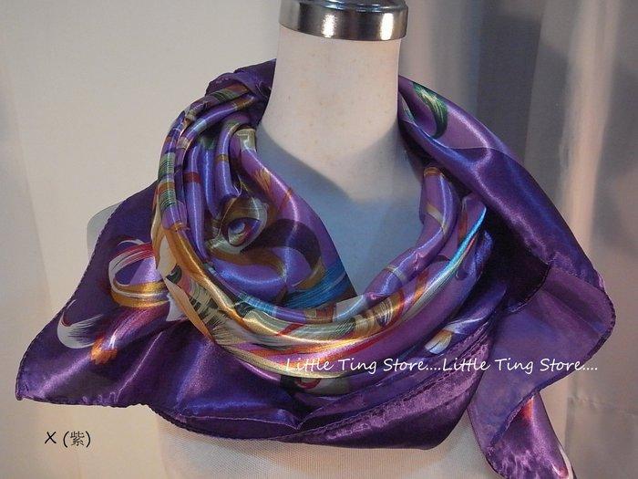 Little Ting Store仕時尚皮帶鎖鍊緞面絲巾大方巾圍巾披肩頭巾 腰帶(多款式)