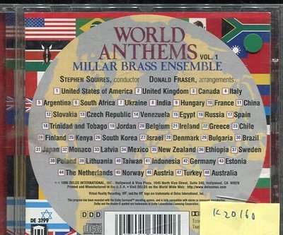 *真音樂* WORLD ANTHEMS / MILLAR BRASS ENSEMBLE 二手 K20160
