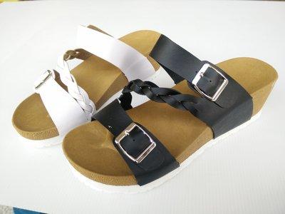 [永誠鞋舖]類勃肯高底女用拖鞋#763#,穿着大方。