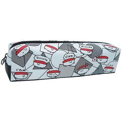 含稅  脫力系壽司 壽司 A款 皮質 筆袋 鉛筆盒 中筆袋 防潑水【832349】