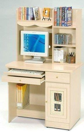 桃園國際二手貨中心 --- 三尺電腦桌 (白橡色+胡桃色)