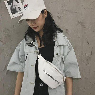 腰包女2019新款時尚少女小挎包條百搭...