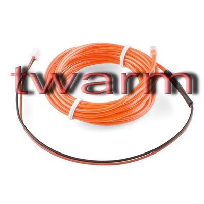《德源科技》r)Sparkfun原廠 EL Wire冷光發光條3m - Orange橘色 (COM-10193)