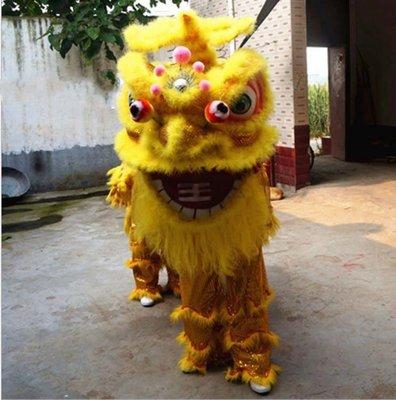 【奇滿來】舞龍舞獅南獅道具/一套 雙人南方笑臉 民俗技藝藝品 醒獅隊獅頭 競技比賽演出服廟會活動開張喜慶表演BEAA