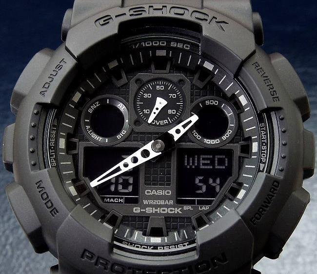 南◇2020 5月 CASIO G-SHOCK  全黑色 手錶 電子錶 軍錶 GA-100-1A1 GA-100 霧黑色