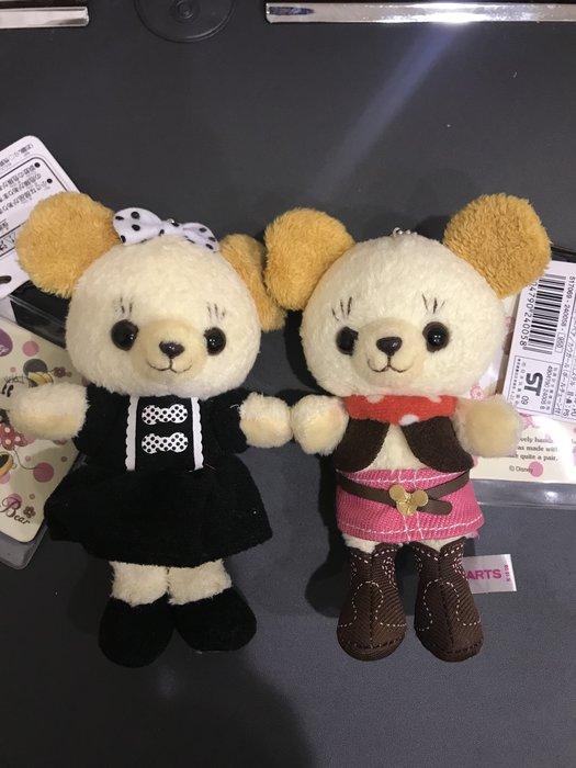 *凱西小舖*日本進口迪士尼正版 Minnie&Cuddly Bear米妮寵物熊 玩偶珠鍊吊飾