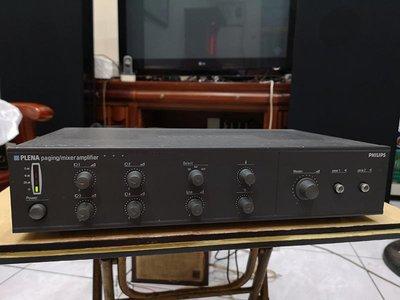 手PHILIPS PLENA 4路前置混音+2分區,120W公共區域廣播擴大機