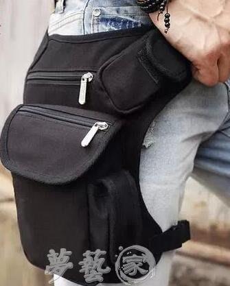 戰術包 男士多功能帆布腿包軍迷戰術包戶外運動騎行腰包綁腿包工具包新款