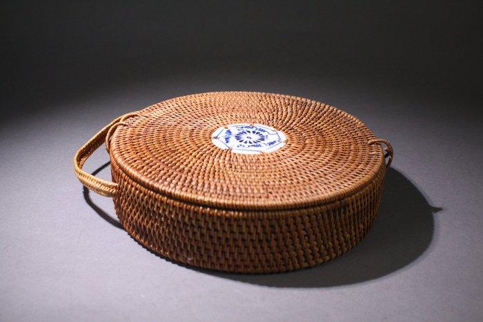 悅年堂 --- 竹編 茶餅圓盒 手提盒 普洱茶 乾燥 收藏盒