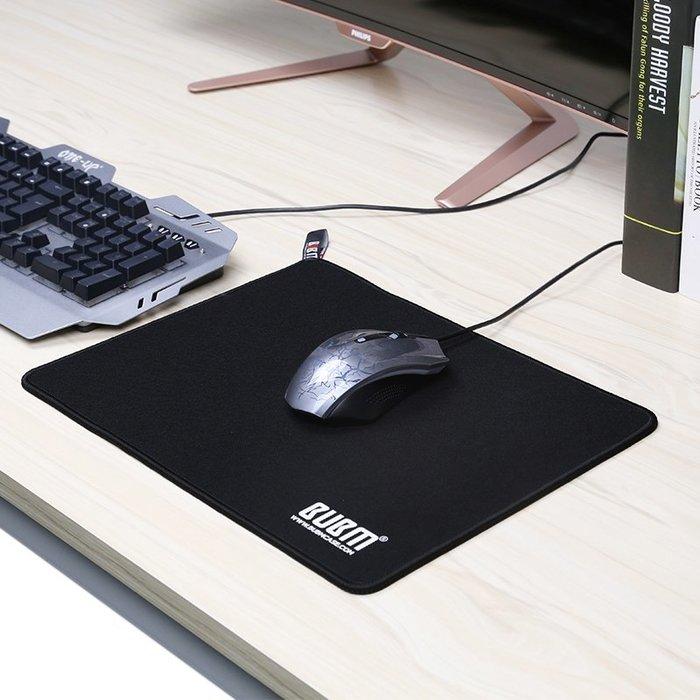 衣萊時尚-熱賣款 游戲鼠標墊超大大號小號加厚鎖邊辦公家用筆記本電腦墊子粗面膠墊