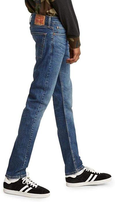 【彈性新款28-38腰】美國LEVI S Skinny 510 水洗深藍刷白合身窄版厚磅小直筒 牛仔褲 511