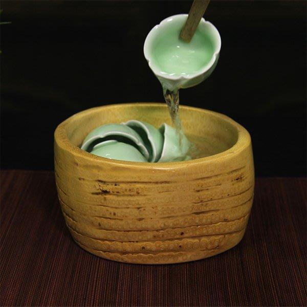 5Cgo【茗道】含稅會員有優惠 45046095695 竹根雕茶洗茶具茶道洗茶杯茶具功夫茶具配件天然竹制洗茶碗洗杯洗筆盤
