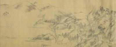 八大山人 1626-1705 秋林書屋.張大千題款
