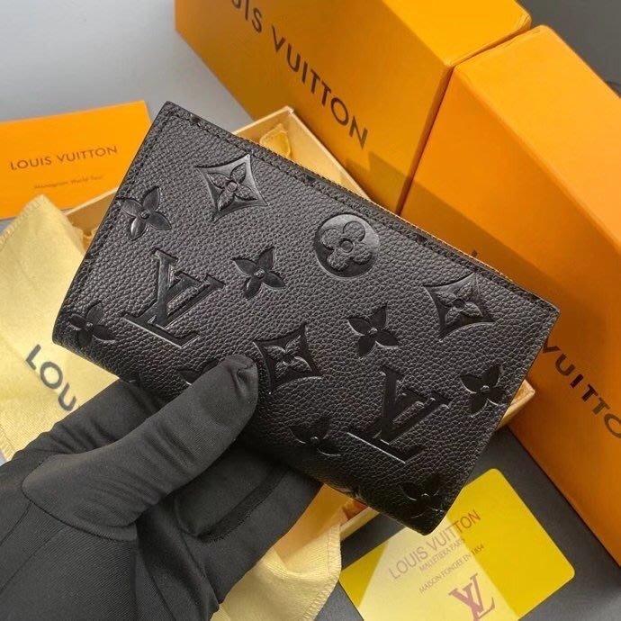 名品部落~L家 最新款 頂級貨女包 原單經典款多功能小錢包超級實用壓花短款皮夾6RX309