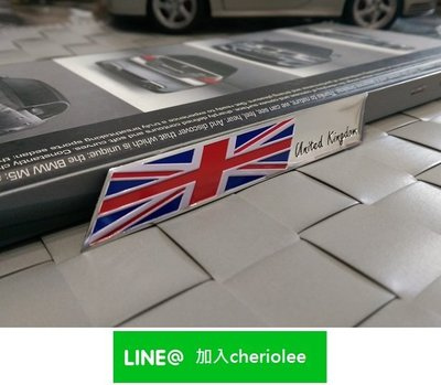 英國旗 UNITE KINGDOM 鋁合金標 Land Rover Discovery Freelander MINI