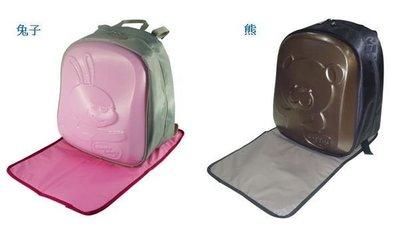 Simple dimple 媽媽包,小朋友背包書包 (共兩款,粉紅兔,咖啡熊大),硬殼包