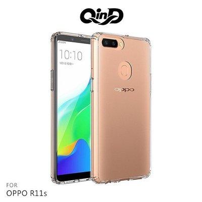 *Phone寶*QinD OPPO R11s 雙料保護套 高透光 PC+TPU 背殼 透明殼