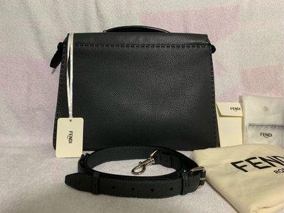 100%real & new Fendi 全牛皮 Peekaboo Fit 公事包 briefcase 原價$31,800